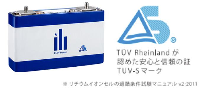 国際的認証機関TUV RheinlandをクリアしてTUV-Sマークを取得